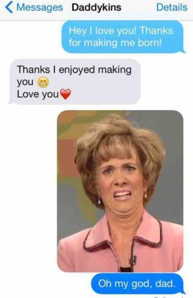 funny dad texting