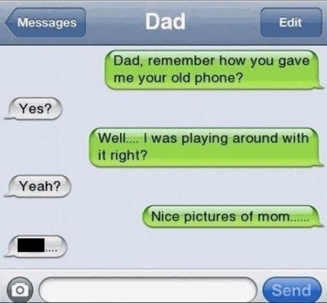 parents text to children