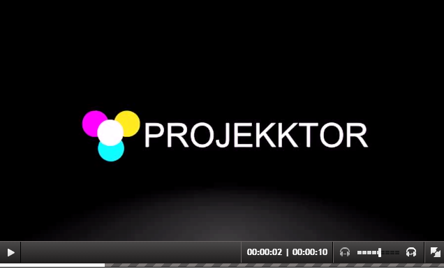 Projekktor html 5 player