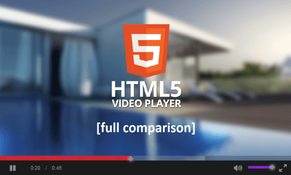 HTML5 player interface