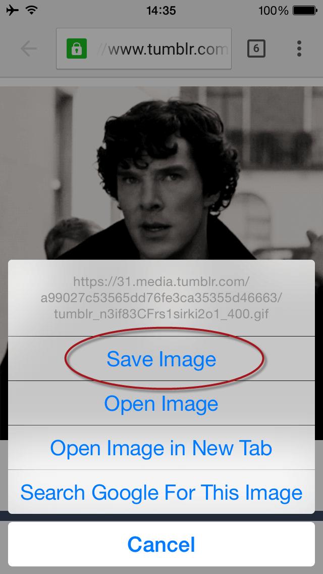 save GIF image