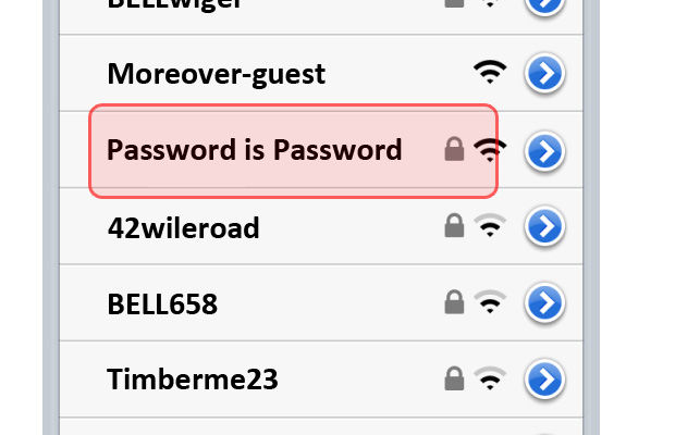 Funny Wifi Passwords