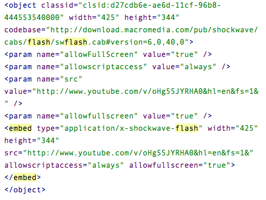 flash code example