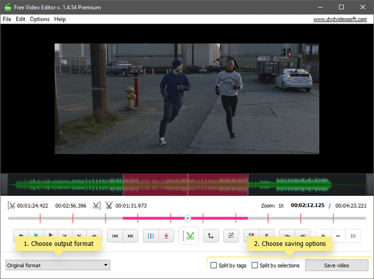 DVDVideoSoft Free Video Editor