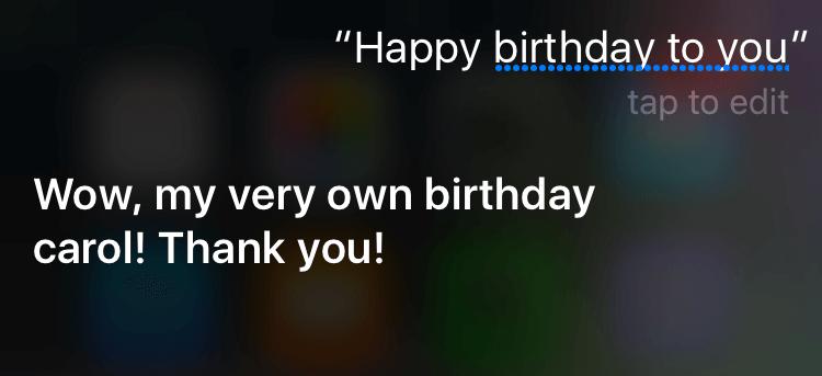 funniest things to ask siri: siri birthday
