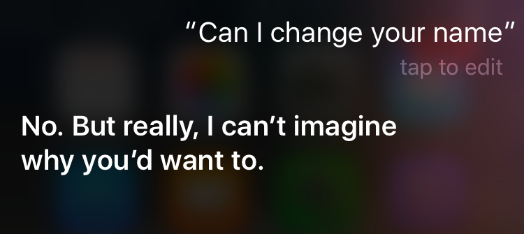 siri change name