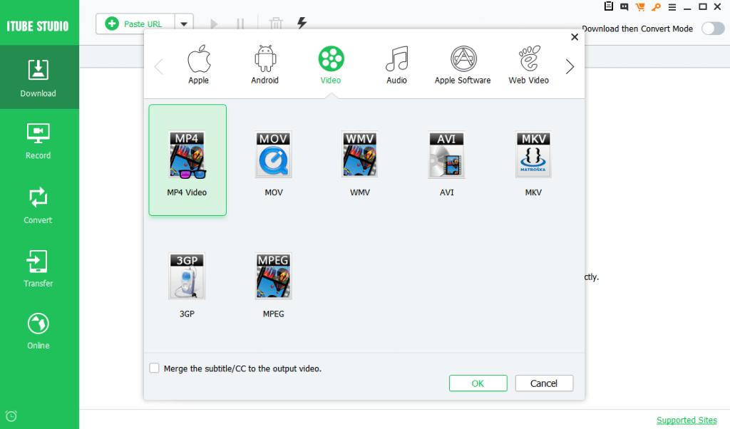 iTube Studio interface