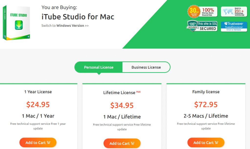 iTube Studio Win prices