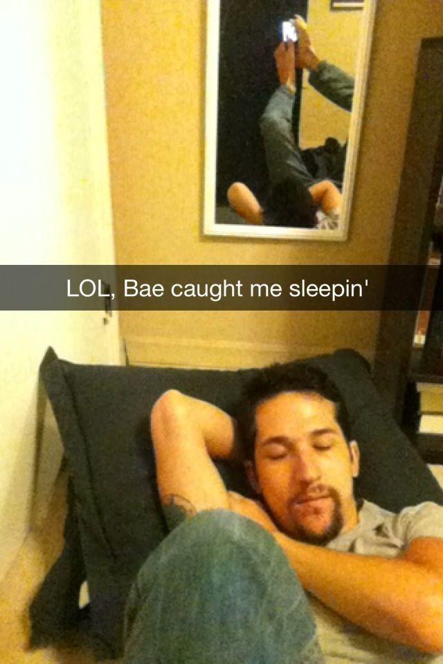 caught sleeping