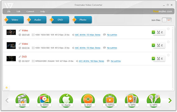 Freemake Video Converter - Main window