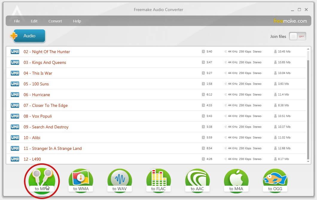 convertir WMA en MP3, WAV en MP3 tuto