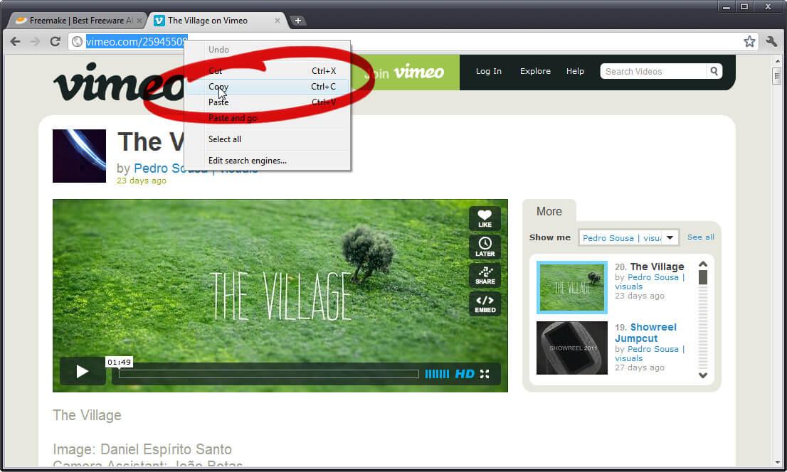 Video-URL kopieren
