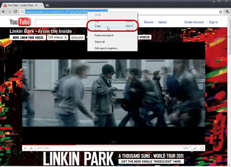 youtube para celular