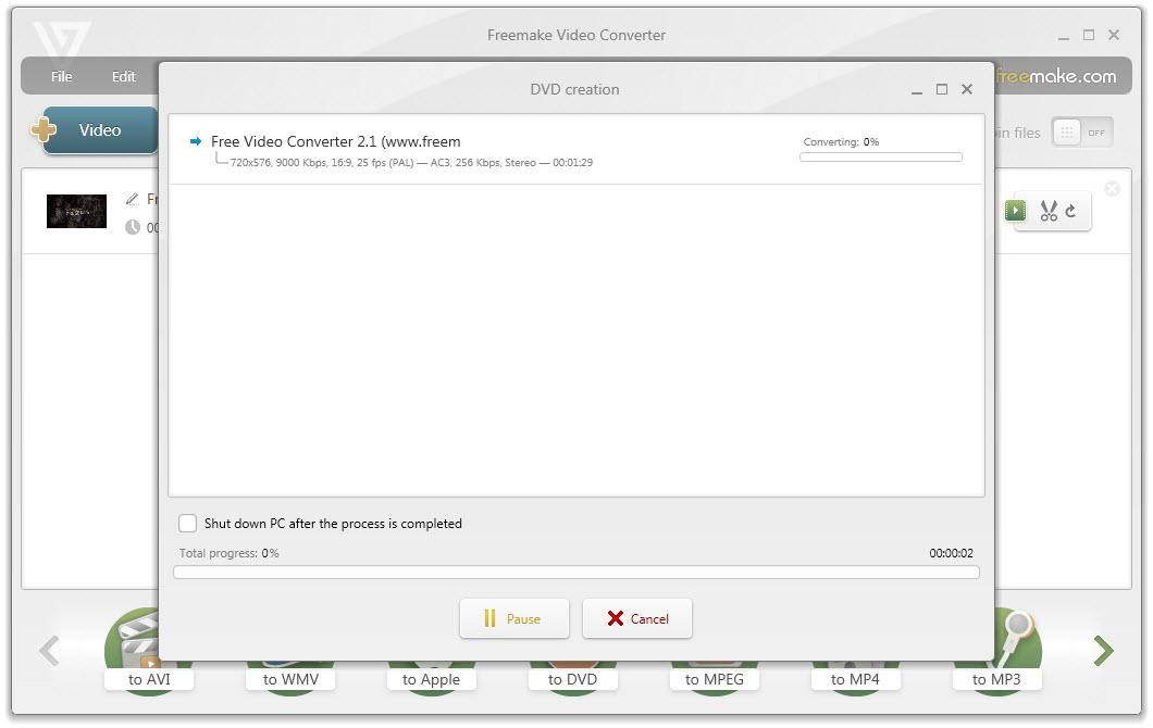 come masterizzare file su dvd free